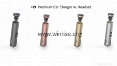 H9-Premium car charger with Headset