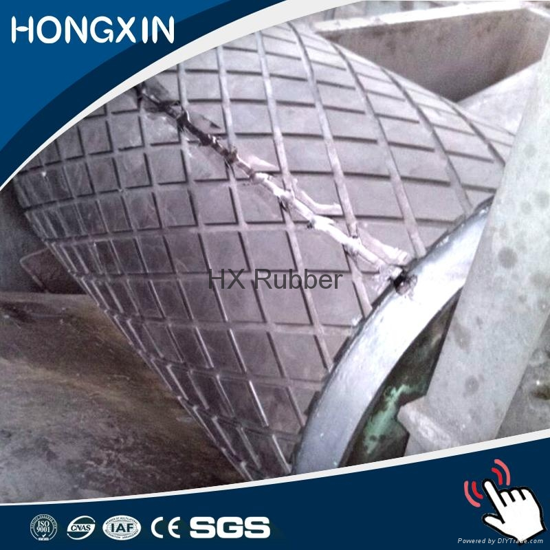 Rubber pulley lagging sheet for belt conveyor 5