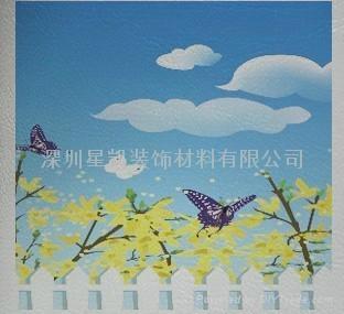 弱溶剂仿皮纹墙纸壁画材料 2