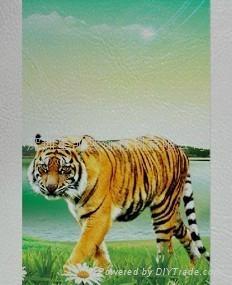 弱溶剂仿皮纹墙纸壁画材料 3