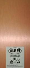 銅色拉絲鋁板