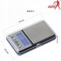 BDS-333 mini pocket jewelry scale electronic scale  5