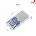 BDS MH-138 pocket jewelry scale palm scale electronic scale