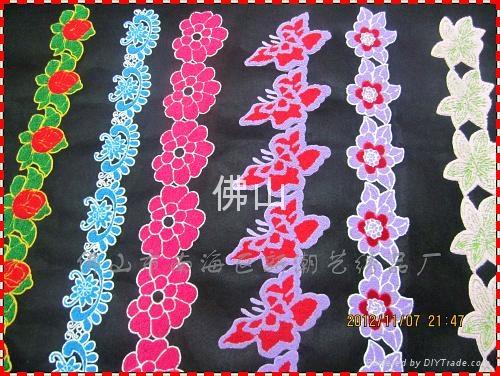 广州毛巾绣服装花边 1