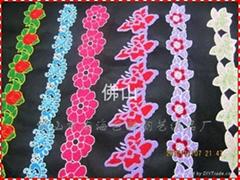 廣州毛巾繡服裝花邊
