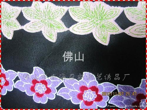 廣州毛巾繡服裝花邊 2