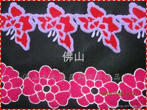 廣州毛巾繡服裝花邊 3