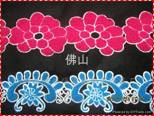 广州毛巾绣服装花边 4