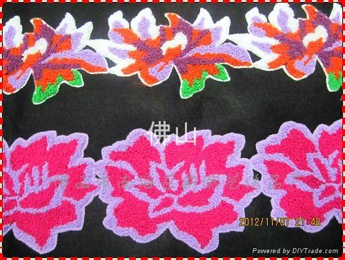 广州毛巾绣服装花边 5