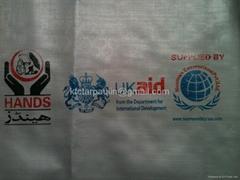 Logo Printed PE Tarpaulin Sheet Groundsheet cover