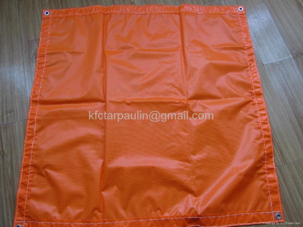 waterproof Fireproof Orange pvc laminated tarpaulin tarps 3