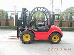 Rough Terrain Fork Lift Truck 3.0T Capacity
