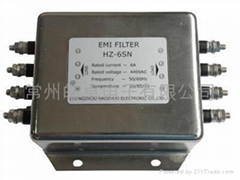 AC three phase four wires emi filter