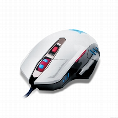 Quickdragon new design gaming mouse with 7colors breathing illuminated ligths