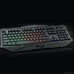 Quickdragon wired backlit rubber gaming keyboard with 7 colros computer keyboard