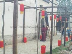 Wire red lanterns