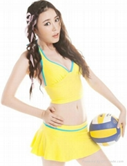 Hang neck type V collar woman skirt fission bathing suit