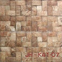 天然环保椰壳马赛克装饰板