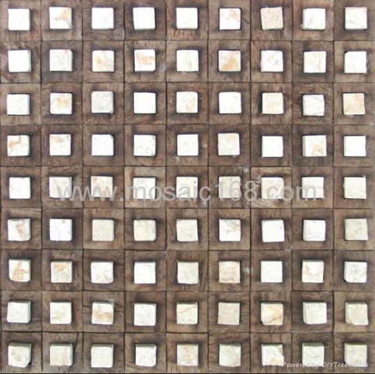 石材椰壳马赛克装饰板 1