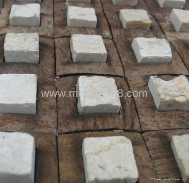 石材椰壳马赛克装饰板 2