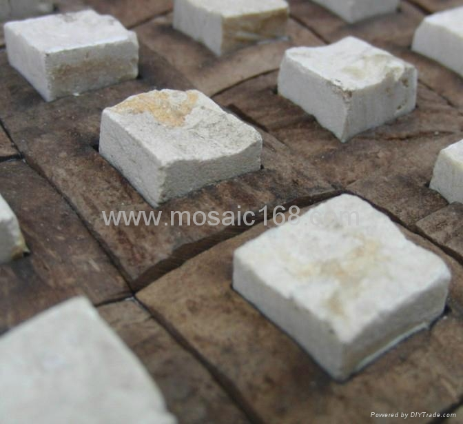 石材椰壳马赛克装饰板 3