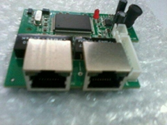 Mini 3 Port 10/100mbps Ethernet Switch Module,Unmanagd Network Switch Pcb board