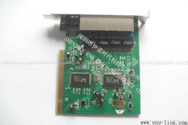 n-link 4 port 10/100Mbps ethernet switch card high speed 4 port network card 3