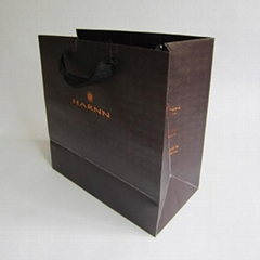 Outside and Inside Custom Printing Shopping Bags Hot Foil Stamping Paper Bag