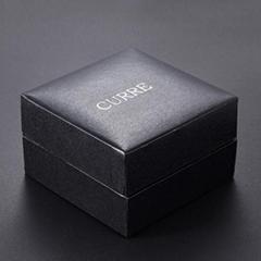 Pinhole Leatherette Jewelry Watch Box Men's Black Wrist Watch Box W/ Pillow Pack