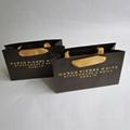 Natural Kraft Paper Food Bag Grosgrain Ribbon Knotted Steak Shopping Bag 1