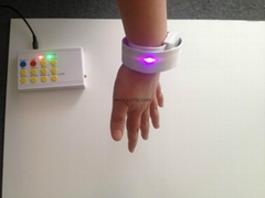 Slap Wristband Bracelet with Remote Controlled LED Light for 2015 Event