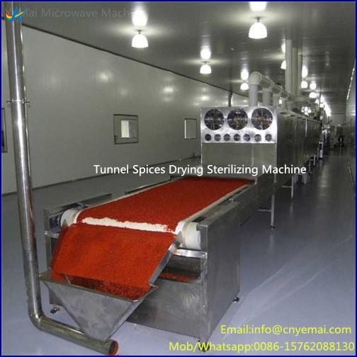 Conveyor Belt Microwave Spice Drying Sterilizing Machine