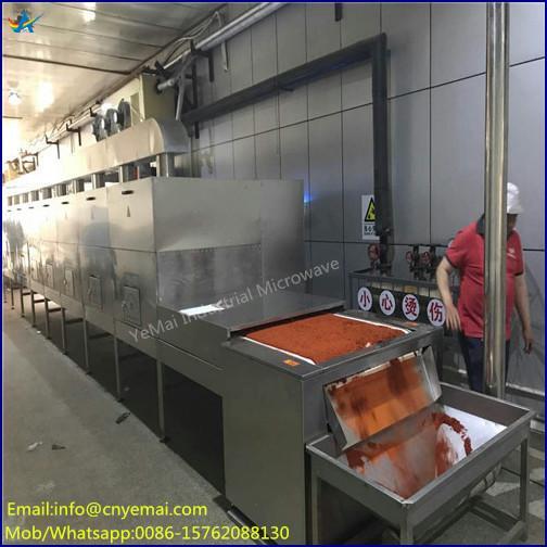 Conveyor Belt Microwave Spice Drying Sterilizing Machine 2