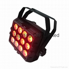 12PCS 6in1 RGBWA+UV Wireless Battery Operated Waterproof LED Stage Light