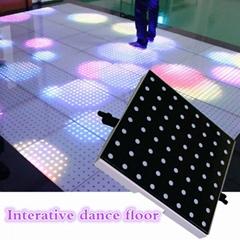 LED 感应地板砖