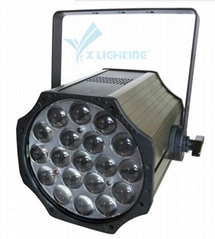 2017new products 19pcs zoom led par light can from China