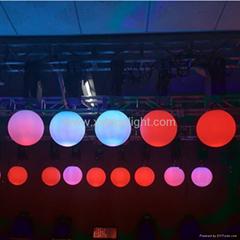 2017新產品Dmx絞車和動力系統RGB LED起重球