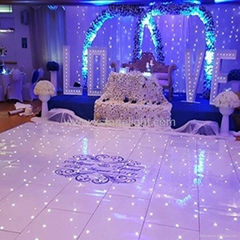 White LED color starlite dance floor  starlit sparkling  for wedding