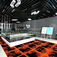 Guangzhou New Products  liquid RGB dance floor with 3d effect