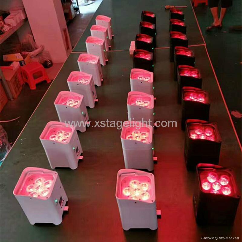 Xlighting 6in1 led wireless battery par light 5