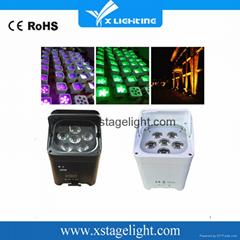 Xlighting 6in1 led wireless battery par light