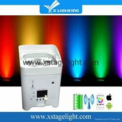 New products RGBWA UV 6in1 wireless uplighting wedding party
