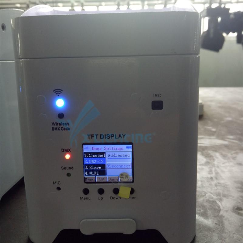 Xlighting 6in1 led wireless battery par light 4