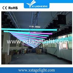 Dmx winch hanging 3d lights led kinetic tube