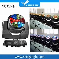 K10 LED摇头蜂眼19X15W RGBW放大舞台灯光