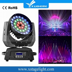 36Pcs 18W  6in1 Wash Led Moving Head Zoom Light