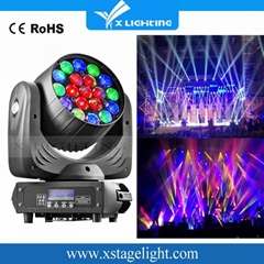 19*12W RGBW 4IN1 Zoom LED Moving Head Wash