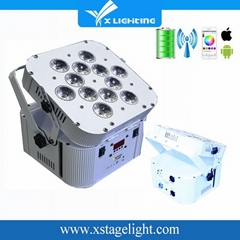 NEW Stage Equipment RGBWA+UV 6in1 Wireless Battery Led par Light