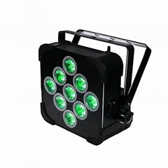 RGBWA 5IN1 9pcs*15W Battery Led Par