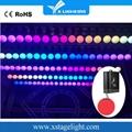 Dmx control winch kinetic RGB led lifting ball for wedding